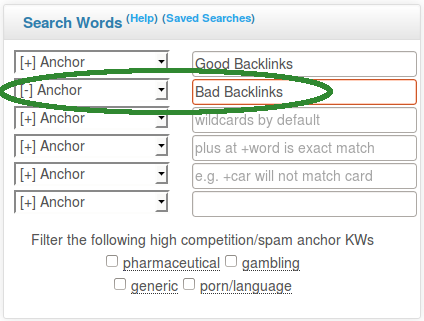 Exclude bad keywords